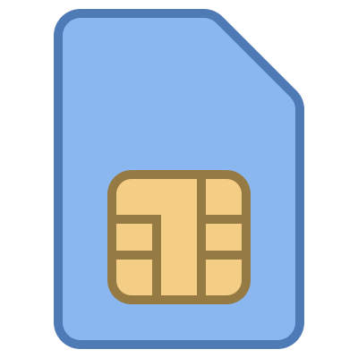 Mobile Sim Card Icon Clipart