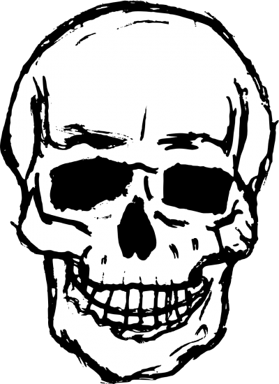 Skeleton Head Cut Out Png