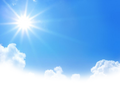 Sun And Blue Clouds Sky Photo Download PNG Images