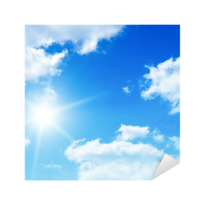 Blue Sky Png Picture Background With Tiny Clouds Sticker PNG Images