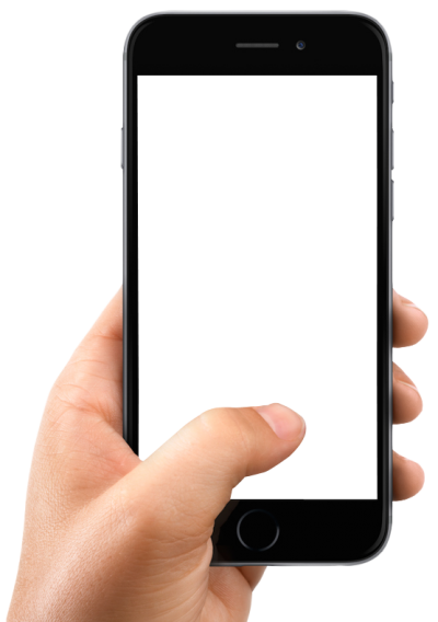 Smartphone With Hand Blank PNG Images