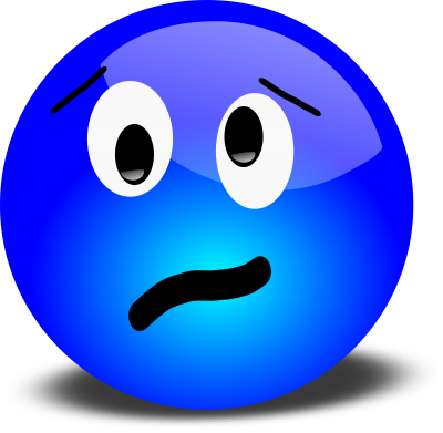 Blue Unhappy Smiley Face Clip Art Icon Clipart PNG Images
