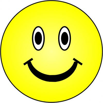 Yellow Happy Smiley Face Clip Art HD Image