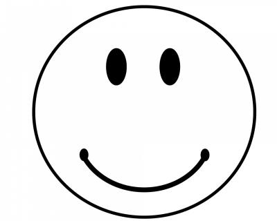 Smiley Face Outline Clip Art Transparent
