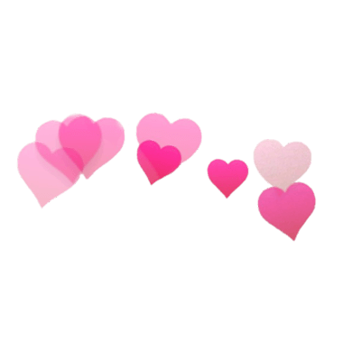 Snapchat Filter Hearts Transparent Png PNG Images