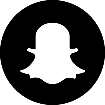 Snapchat Logo Black PNG Circle