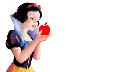 Beautiful Eating Fruit, Snow White Png