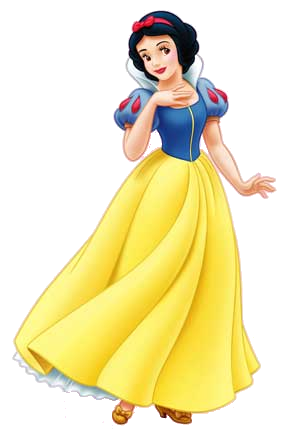 Yellow And Blue Dresses Snow White Png