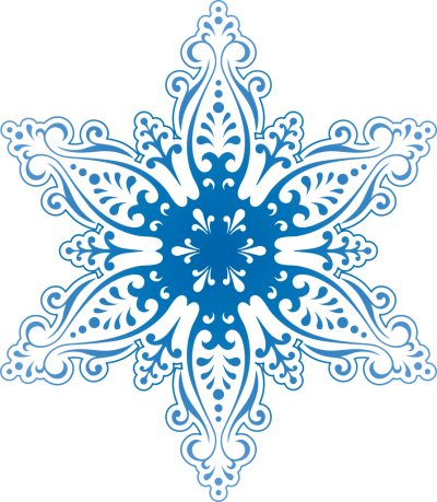 Blue Symmetrical Snowflake Clipart Free Download, Drawing, Pattern PNG Images