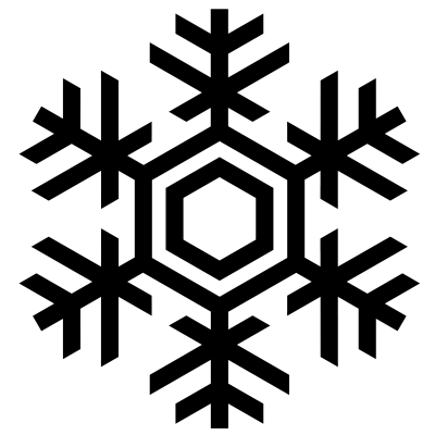 Black Snowflake Clipart icon PNG Images