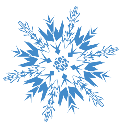 Blue Patterned Snowflake Clipart Photo Download PNG Images