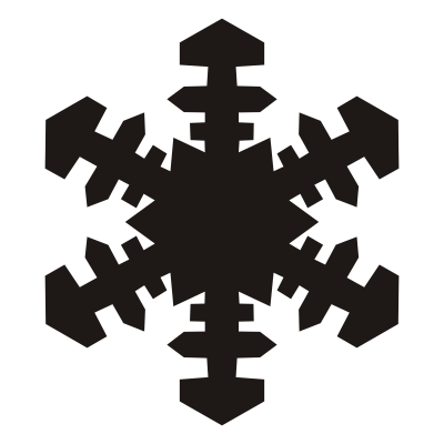 Protruding Brown Snowflake Pattern icon HD Background PNG Images