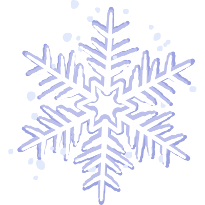 Star Shaped White in Middle Snowflake Png Hd Background PNG Images