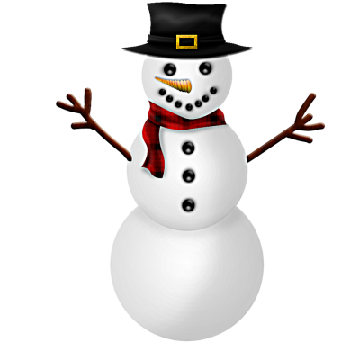 Snowman Hd Background With A Scarf in The Air PNG Images