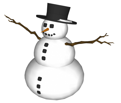 Snowman Photo Hd Background With Black Decoration PNG Images