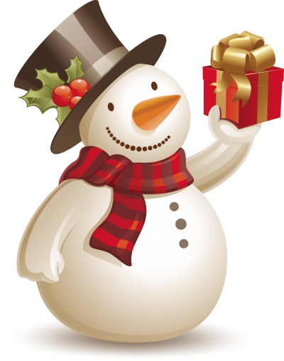 Snowman Gift Hd Background, Christmas Ornament PNG Images