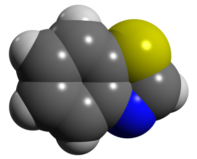 Benzothiazole Space Filling Png PNG Images