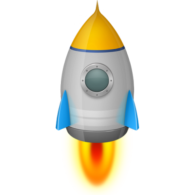 Space Rocket Silver Icon Png