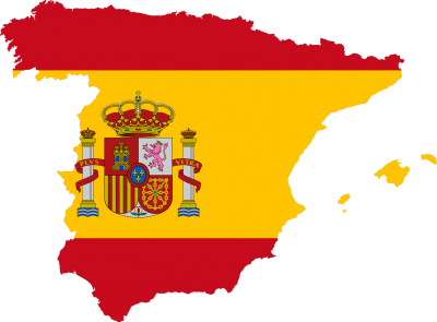 Ultra HD Quality Flag Map Of Spain PNG Images