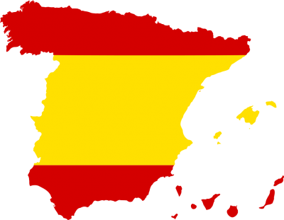 Silhouette Spain With Flag PNG Images