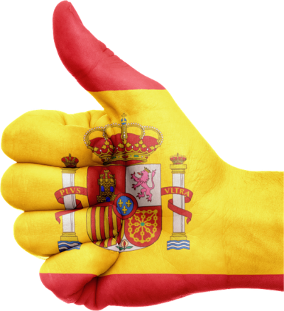 Hand Sign, Ok, Flag, Spain, Spanish Flag, Country, Europe PNG Images