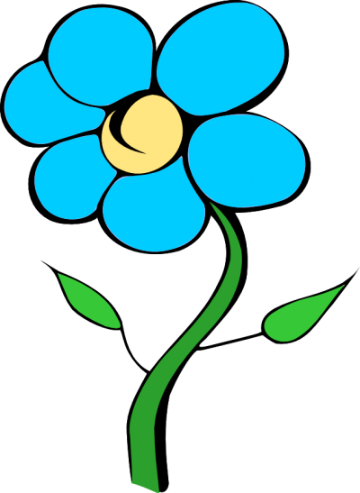 Blue Flowers Special Offer Png Transparent Image