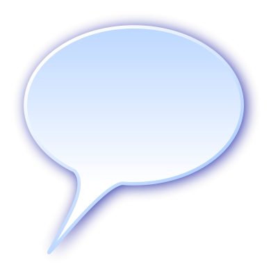 Blue Speech Bubble Image