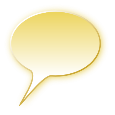 Speech Bubble Yellow Png Pic PNG Images