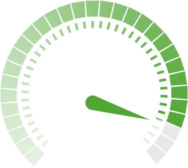 Speed Green Indicator Vector Image