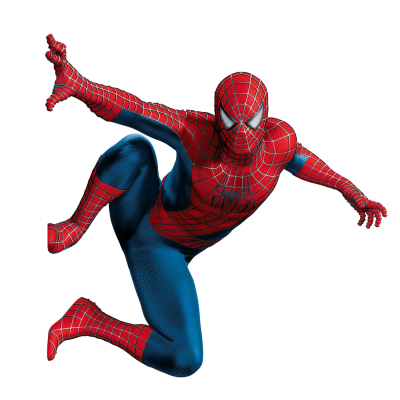 Spiderman Hd Picture in The Air, Leaning To The Left PNG Images