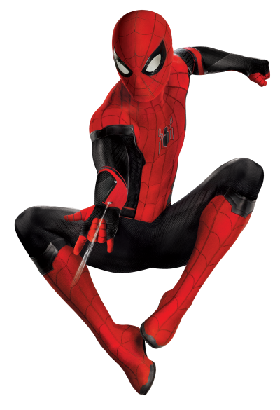 Spiderman Photo in Black Red Costume PNG Images