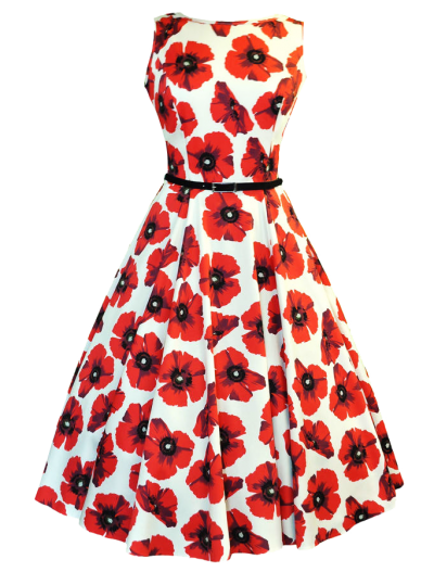 Poppy Dress Retro Clothing Png Pictures PNG Images