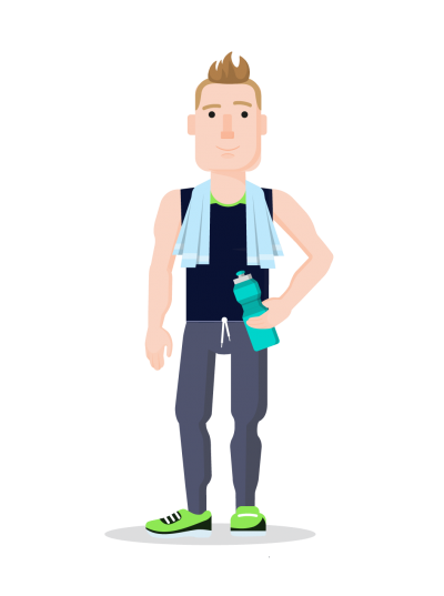 Sports Hd Png Free Caricature Of Man Doing PNG Images