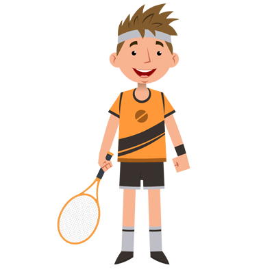 Rocket Sports Clipart Png Free Download, Player, Kids, Male PNG Images