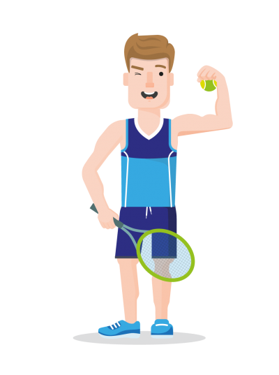 Cartoon Racket Sport Game Hd Free Download PNG Images