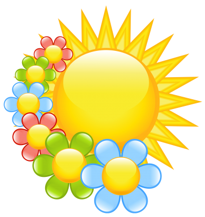 Clipart Photos Spring Sun PNG