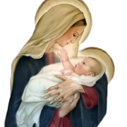 Baby And St. Mary, Mother Of Jesus Png Photo