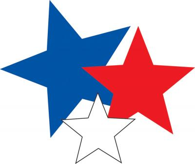 Star Clipart Blue, Red, White Icon Clipart