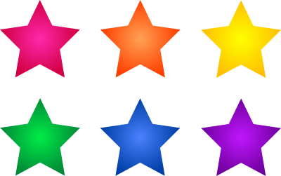 Colorful Star Clipart Simple PNG Images