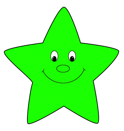 Star Clipart Green HD Image