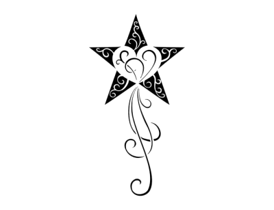 Star Tattoos Simple PNG Images