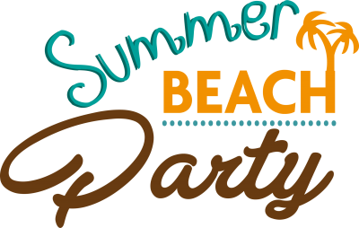 Summer Clipart Background Beach Party Graphics PNG Images
