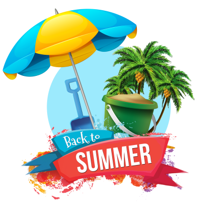 Back To Summer Clipart Background Photo With Text PNG Images