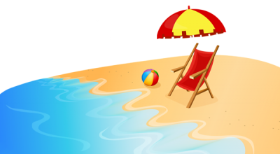 Sea And Sunbed Summer Png Clipart Hd Background PNG Images