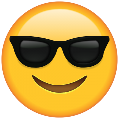 Sunglasses Emoji Cut Out PNG Images