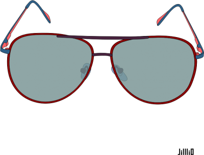 Color Frame Sunglasses Clipart