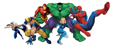 Collective Superheroes Clipart Transparent Png PNG Images