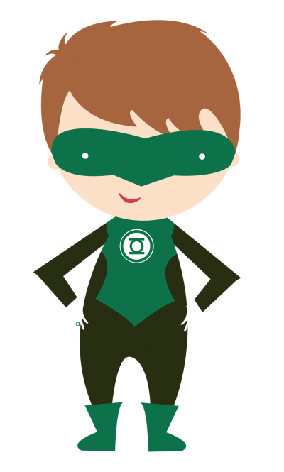 Green Costumed Kid Superhero Hd Png PNG Images
