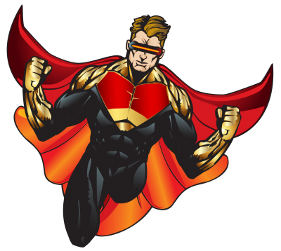 in Red Costume Superhero Transparent Download PNG Images