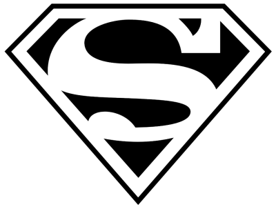 Black Superman Logo Free Cut Out PNG Images